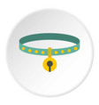 cat collar icon circle vector image vector image