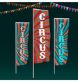 Circus Flags Image vector image vector image