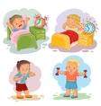 Clip art of little children wake up vector image