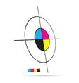 cmyk color target vector image