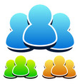 colorful bright character group icon vector image