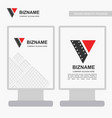 company ad banner design and card with red theme vector image