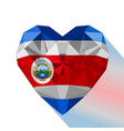 costa rican heart flag costa rica vector image