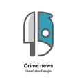 crime news flat icon vector image