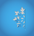Cut out snowflake blue paper vector image vector image