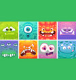 cute colorful cartoon moster set - different vector image
