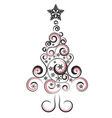 Decorative Christmas Tree2 vector image vector image