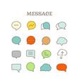 different speech bubbles thin line color icons set vector image vector image