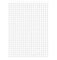 dot grid paper graph paper 1 cm on a4 vector image