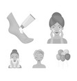 face care plastic surgery face wiping vector image