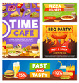 fast food meals bistro restaurant menu vector image vector image