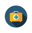 First aid kit flat icon Summer Vacation vector image