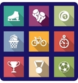 Flat sporting icons set vector image