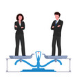 gender equality concept woman and man are vector image