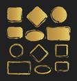 golden grunge vintage painted shapes set vector image vector image