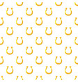 golden horseshoe pattern vector image vector image