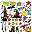 Halloween collection vector image vector image