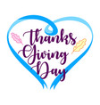 hand drawn happy thanksgiving day poster design vector image