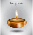 Happy Diwali Design with a Candle