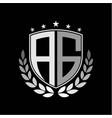 initials inspiration letter a g logo shield badge