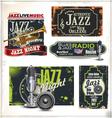 Jazz music labels set vector image