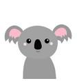 koala bear face head icon cute cartoon funny baby