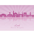 Leeds V2 skyline in purple radiant orchid vector image vector image