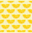 lemon slices seamless pattern vector image vector image