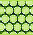 lime fruit slices seamless pattern colorful vector image
