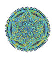 mandala green blue oriental decorative flower vector image vector image
