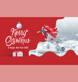 merry christmas happy new year 2020 hometown vector image vector image