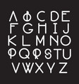 modern font typeface made in minimalistic style vector image