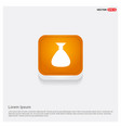 money bag icon orange abstract web button vector image