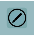 Pale blue ink pen sign vector image vector image