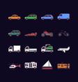 pixel art transport vector image