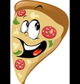 Pizza cartoon vector image