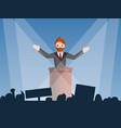 political speaker concept background cartoon vector image