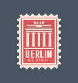 postmark stamp germany with brandenburg gate vector image