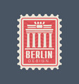 postmark stamp of germany with brandenburg gate vector image