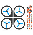 quadrotor icon with love bonus vector image vector image
