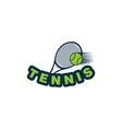 racket tennis and ball logo design vector image vector image