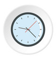 round analog clock face icon circle vector image