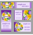 set cards with a picture wild flowers vector image
