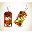 set of autumn sale tags vector image vector image