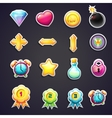 Set of cartoon icons for the user interface of vector image