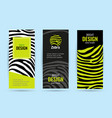 set vertical roll up with black stripes bright vector image vector image