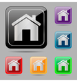 Set web buttons home vector image vector image