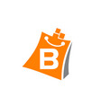 shopping online initial b vector image vector image