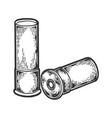 shotgun cartridge engraving vector image