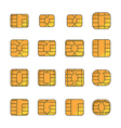 Sim card set vector image vector image